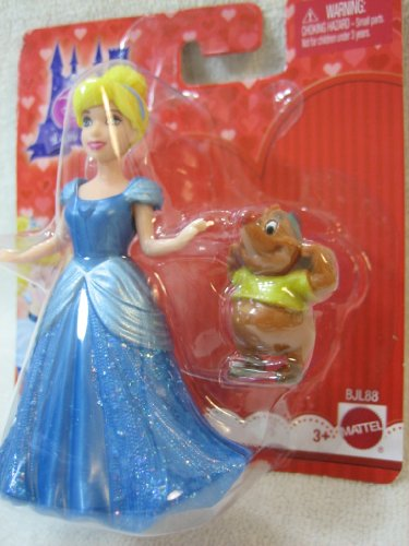 Disney Princess Little Kingdom CINDERELLA & GUS mini doll set MagiClip Fashion