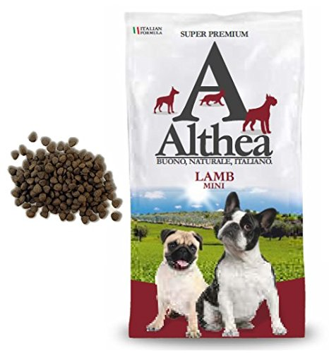 Althea Lamb Mini 2,5 kg - Crocchette monoproteiche all'agnello pesce per cani di taglia piccola, naturali al 100%