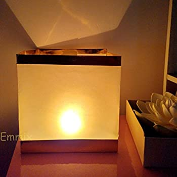 Emmix Water Floating Candle Lanterns for Party Decoration Outdoor Chinese Lanterns for Blessing 5.9 Inches Pack of 10