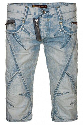 CIPO & BAXX Denim kurze Hose hellblau Herren-Shorts