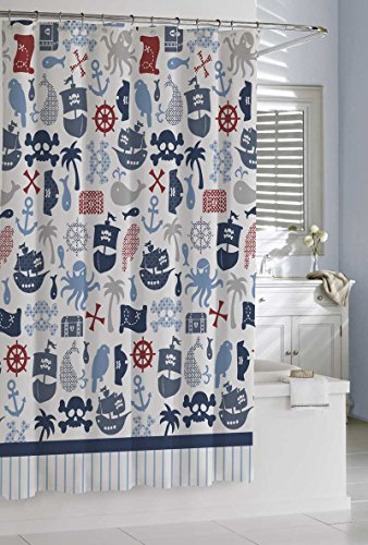 Kassatex Bambini Pirates Shower Curtain