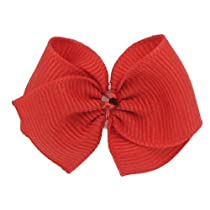 Puppy Kisses Ruby Dog Hair Bow - Metal barrette closure Made with SWAROVSKI ELEMENTS