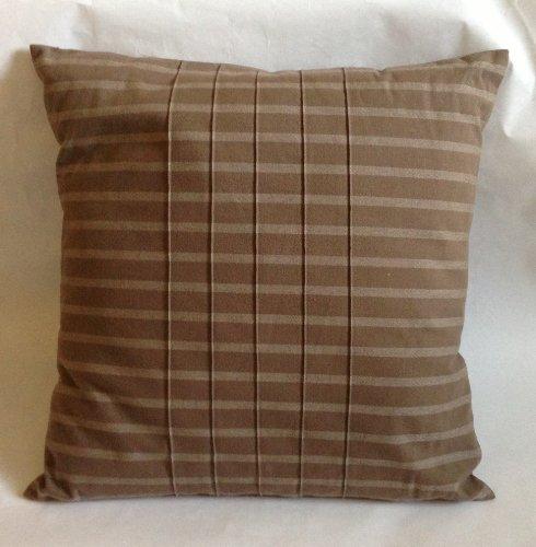 Calvin Klein Magnolia Rib Stitch Pillow (18X18) - Timber front-65789