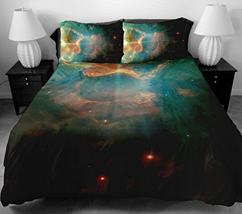 Anlye Dorm Bedding Decoratoring Sets 2 Sides Printing Design Style Of The Brown Out Space Bed Sheets With 2 Pillow Cases Twin front-753746