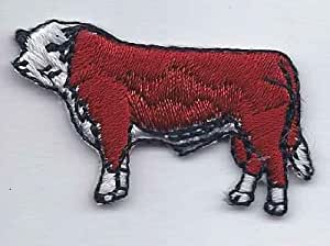 POLLED HEREFORD IRON OR SEW ON PATCH