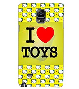 SAMSUNG GALAXY NOTE 4 I LOVE TOYS Back Cover by PRINTSWAG