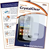 2x mumbi Displayschutzfolie Samsung Galaxy Pocket Schutzfolie CrystalClear unsichtbar