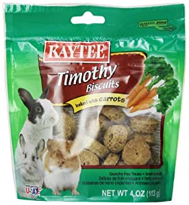 Kaytee Timothy Hay Baked Carrot Small Animal Treats, 4-Ounce