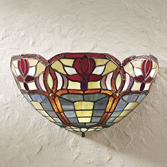 Stained Glass Wireless Wall Sconces : Amazon.com: Wireless Stained Glass Wall Sconce: Home Improvement