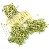 400 Piece Bamboo Cocktail Pick Assortment, Knotted Picks and Mini Forks ~ ThinkBamboo - Cooking