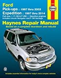 img - for Ford Pick-ups 1997 thru 2003 & Expedition 1997 thru 2014: Full-size, F-150 & F-250, Gasoline Engines - Includes Lincoln Navigator and F-150 Heritage (Haynes Repair Manual) book / textbook / text book