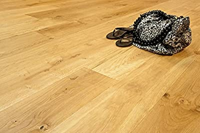 """Wide Plank 7 1/2"""" x 5/8"""" European French Oak (Natural) Prefinished Engineered Wood Flooring Samples at Discount Prices by Hurst Hardwoods"""