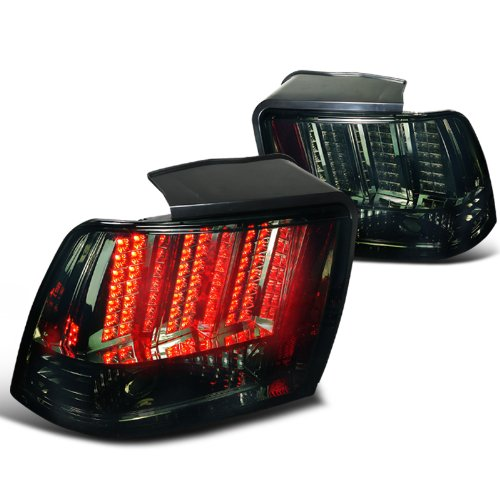Depo Ford Mustang Smoked Led Tail Lights Sequential Brake Signal Lamps