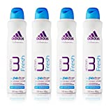 New Adidas Action 3 Fresh 24H Ladies Deodorant Anti-Perspirant For Women 250ml