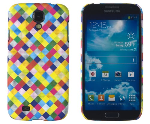 Premium Colorful Check Slim Hard Case For Samsung Galaxy S4, I9500 - [Retail Packaging By Dandycase With Free Lcd Screen Cleaner]