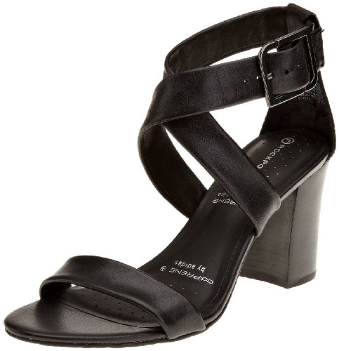 Rockport Women's Gerti Sandal Black Ankle Strap Heel K57352 7 UK