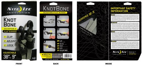 Images for Nite Ize KBBF-03-26 KnotBone Adjustable Flat Bungee, Foliage