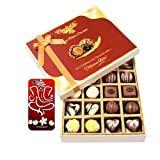 Chocholik Belgium Chocolates - 20pc Milk And White Chocolate Treat With 3d Mobile Cover For IPhone 6 - Diwali...