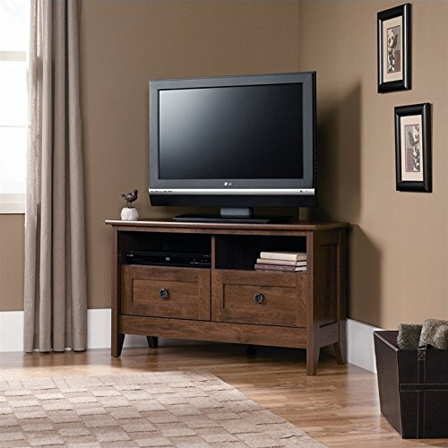 Sauder August Hill Corner Entertainment Stand, Oiled Oak Finish