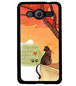 PRINTVISA Quotes Love Case Cover for Samsung Galaxy Core 2