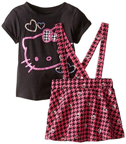 Hello Kitty Little Girls' HK Skirt Set, True Black, 5