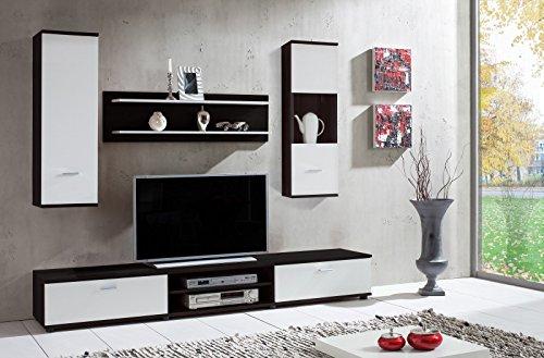 Wohnwand-Wow-Dunkelbraun-Wei-Wohnzimmerschrank-Tv-Wand-Holzdekor