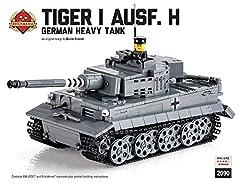 ドイツ軍Tiger I Ausf H 【プレミアムエディション】 レゴカスタムキット 説明書付き・カスタムフィグ1体付属 LEGOカスタムパーツ アーミー 装備品 武器