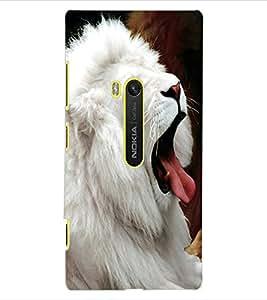 ColourCraft White Lion Design Back Case Cover for NOKIA LUMIA 920