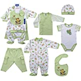 Hudson Baby 6-Piece Layette Set - Green, Newborn