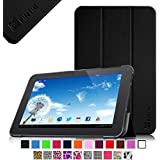 """Fintie Slim Shell Case Cover for 10.1-Inch Android 4.4 KitKat Tablet PC inclu. D2D 10.1 inch Android Tablet, Polatab Elite Q10.1"""", FUSION5 10.1"""", TONBUX 10.1"""", iRulu 10.1"""" A20, Tabexpress 10.1"""", Dragon Touch A1 10.1"""", Tagital T10 10.1"""" Tablet (PLEASE check the complete compatible tablet list under Product Description) - Black"""