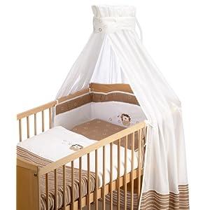 Schardt 13 446 00 00 3/635 - Bett-Set 4-teilig Stickerei Kleiner Löwe