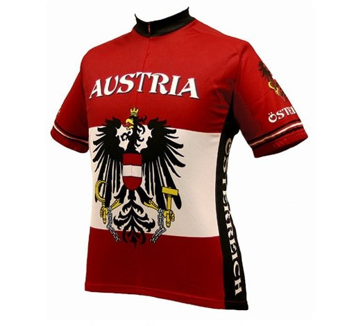 Buy Low Price World Jerseys Men's Austria Cycling Jersey (B004EWFZK0)