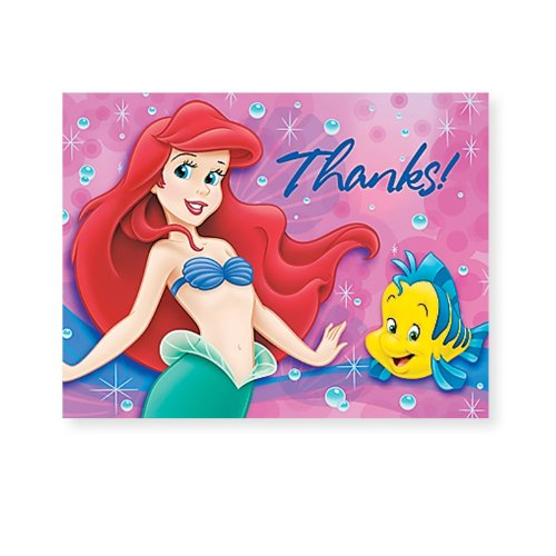 Little Mermaid - Thank You Notes - 8/Pkg - 1