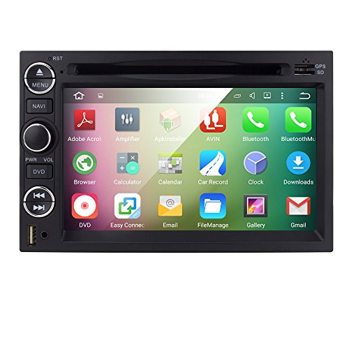 Android 5.1 OS Quad Core In Dash 2Din Car DVD Player 7inch 1024600 Touchscreen GPS Navigation Radio Receiver for Ford F150/F350/Mustang/Edge/Explorer Support 3G/Wifi/SWC/Digital TV/DVR/OBD2/DAB+ (F150 Radio Console compare prices)