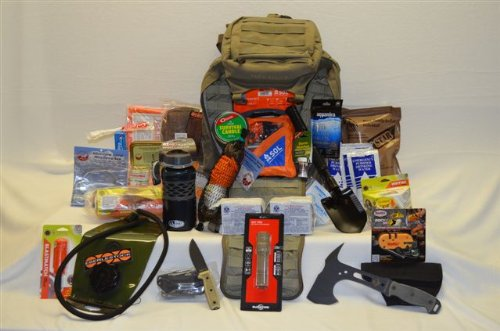 Bug Out Bag Loaded Eberlestock Gunslinger Ii Pack (Gunslinger 2) In Military Green Color - 72 Hours Or More Of Emergency Food Water And Supplies - Mre Star Mres With Flameless Heaters, Sos Food Labs 2400 Calorie Bars And Emergency Drinking Water Packets,