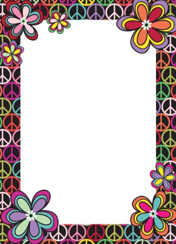 Brewster Wall Pops WPE99821 Peel & Stick Peace Dry-Erase Message Board with Marker