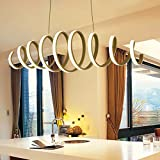 KJLARS-Modernen-spiral-Pendelleuchte-LED-Hngeleuchte-Haengelampe-Schlafzimmer-Esstisch-Acryl-Leuchtmittel-Warmwei