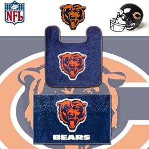 Amazon Com Nfl Chicago Bears Logo Bathroom Soft Floor