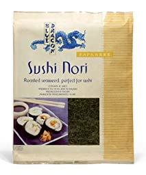 Blue Dragon Sushi Nori, .77-Ounce (Pack of 5)