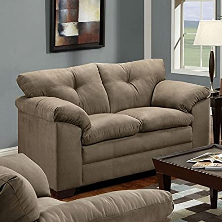 Simmons Upholstery Luna Loveseat, Mineral