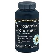 PharmAssure Glucosamine/Chondroitin, Capsules, 240 capsules