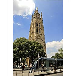 Photographic Print of Tour Pey-Berland, a 16th century Bell Tower, Bordeaux, UNESCO World Heritage