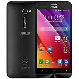 """Royal Touch TM ASUS ZENFONE 2 (5""""Inch) ZE500CL TEMPERED GLASS SCREEN PROTECTOR/BUBBLE FREE APPLICATION/HOLE FOR FRONT PROXIMITY SENSOR/NO HANGING PROBLEM/HIGH QUALITY JAPANES AGC GLASS MATERIAL"""