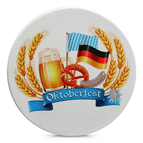 Porzellan Untersetzer für Gläser Porzellanuntersetzer Oktoberfest Flagge 11 cm