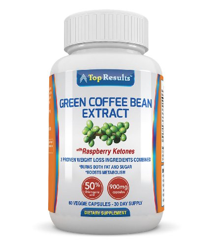 Pure Green Coffee Bean Extract Pills, 800Mg Gca® (50% Chlorogenic Acid) Plus 100Mg Of Raspberry Ketones (Potent Dosage Of 900Mg) - Natural Organic Ingredients - Ultra Quick Weight Loss Supplements - Lose Weight Fast With 60 Max Strength Fat Burner Diet Pi