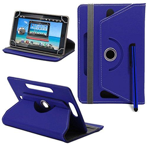Prestigio MultiPad 8.0 Pro Duo Tablet Neues Design Universelle um 360 Grad drehbare PU-Leder Designer bunte Hülle mit Standfunktion - Cover - Tasche - Blau / Plain Blue Von Gadget Giant®