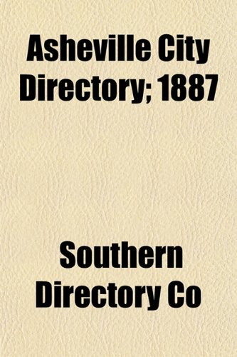 Asheville City Directory; 1887