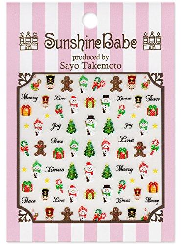 SunshineBabe ネイルシール クリスマス
