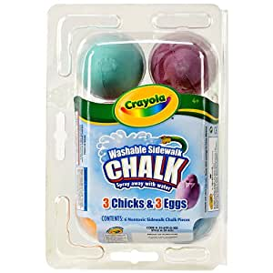 amazon com crayola washable sidewalk chalk 6ct 3 eggs