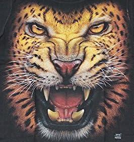 (マジックナイト)MAGIC NIGHT Tシャツ アニマル柄 動物 21種類 ブラック タイガー 虎 威嚇 Sサイズ